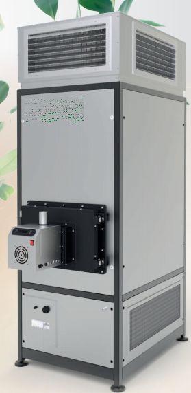 Generatore aria calda a pellet 100 kw - Canalizzazione aria calda stufe a pellet ...